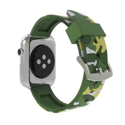 Camouflage Sport Loop 42mm with Soft Silicone Rubber Watch Strap for iWatch Series 3 / 2 /