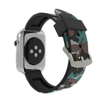Camouflage Sport Loop 38mm with Soft Silicone Rubber Watch Strap for iWatch Series 3 / 2 / 1