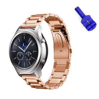 22mm Solid Stainless Steel Metal Replacement Smart Watch Strap Business Bracelet and Tool for Samsung Gear S3 Frontier / Classic Sport Smart Watch