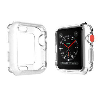 38mm Screen Protector Case Soft TPU High Transparent All-Around Protection iWatch Protective Cover Anti-Scratch for Series 3 / 2 / 1