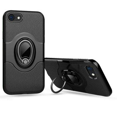 Holder Stand Magnetic Suction Bracket Finger Ring TPU +PC Armor Back Cover for iPhone 8 / 7 Case