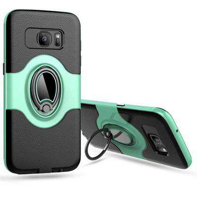 Holder Stand Magnetic Suction Bracket Finger Ring TPU +PC Armor Back Cover for Samsung Galaxy S7 Edge Case