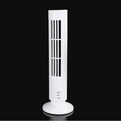 Air Conditioner Fan Portable Mini No Leaf USB Cooling Fan Tower Shape Fan for Home/Office/Outdoor