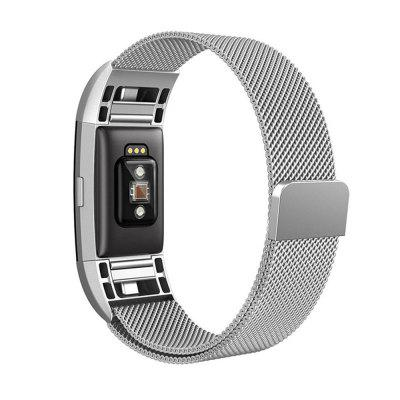 For Fitbit Charge 2 Heart Rate and Activity Tracker Stainless Steel Mesh Milanese Magnetic Loop Wrist Bands Bracelet Strap