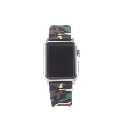 Camouflage Silicone Band 38MM Replaceable Bracelet Strap For Apple Watch Series 1 / 2 / 3