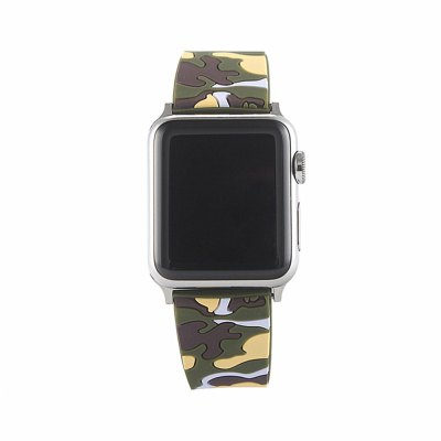 Buy Camouflage Silicone Band 42MM Replaceable Bracelet Strap For Apple Watch Series 1 / 2 / 3, YELLOW + GREEN, Consumer Electronics, Smart Watch Accessories for $8.41 in GearBest store