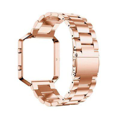 Replacement Metal + Metal Frame for Fitbit Blaze Tracker Stainless Steel Watch Bands Magnetic Lock 4 Colors