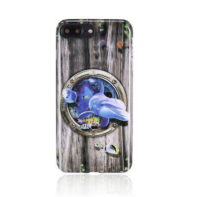 Glossy Animal Painted TPU Rear Shell for iPhone 7 Plus / 8 Plus