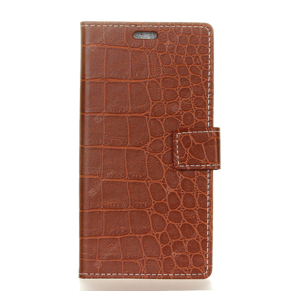 Vintage Crocodile Pattern PU Leather Wallet Case for Moto G5s Plus