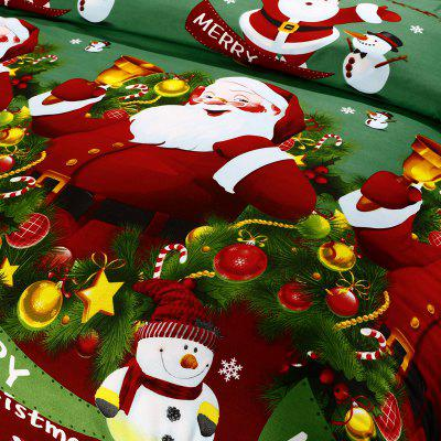 Christmas  Polyester Santa 3D Printed Duvet Cover 2PCS Pillowcases Bed Sheet  Christmas Bedding DecorationBedding Sets<br>Christmas  Polyester Santa 3D Printed Duvet Cover 2PCS Pillowcases Bed Sheet  Christmas Bedding Decoration<br><br>Category: Bedding Set<br>Color: Green<br>For: All<br>Functions: Multi-functions<br>Material: Polyester fibre, Cotton<br>Occasion: Bedroom<br>Package Contents: 1 X Duvet Cover?2 X Pillowcases?1 X Bed Sheet<br>Package size (L x W x H): 28.00 x 25.00 x 6.00 cm / 11.02 x 9.84 x 2.36 inches<br>Package weight: 1.5000 kg<br>Product weight: 1.4500 kg