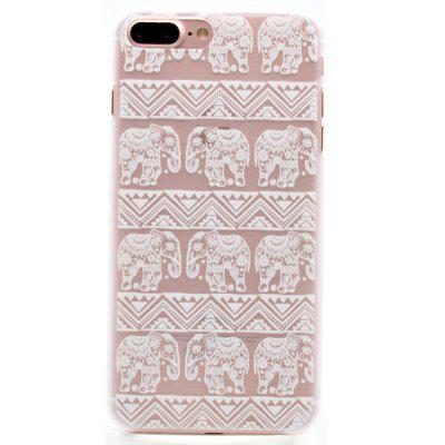 Fashion Relief Ultra Thin Transparent PC Back Cover Case for iPhone 7 Plus / 8 Plus (D)