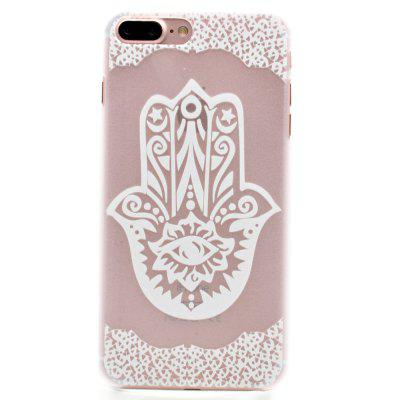 Fashion Relief Ultra Thin Transparent PC Back Cover Case for iPhone 7 Plus / 8 Plus (E)