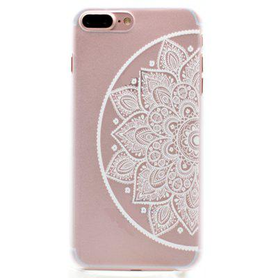 Fashion Relief Ultra Thin Transparent PC Back Cover Case for iPhone 7 Plus / 8 Plus (G)