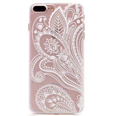 Fashion Relief Ultra Thin Transparent PC Back Cover Case for iPhone 7 Plus / 8 Plus (I)