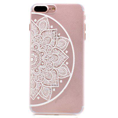 Fashion Relief Ultra Thin Transparent PC Back Cover Case for iPhone 7 Plus / 8 Plus (J)