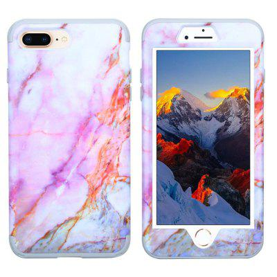 Marble PC and Silicone Anti Shock Impact Tough Armor Case for iPhone 7 Plus / 8 Plus