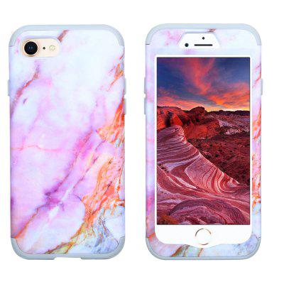 Marble PC and Silicone Anti Shock Impact Tough Armor Case for iPhone 7 / 8