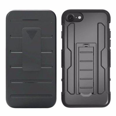 Belt Clip Holster 3 in 1 Combo Defender Stand Armor Shockproof Silicone Case Back Cover for iPhone 7 / 8