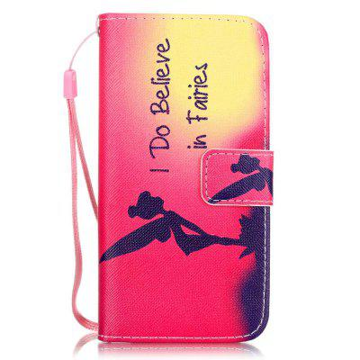 Girl Pattern PU Leather Flip Wallet Case for iPhone 7 / 8