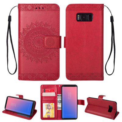 Embossed Wallet Flip PU Leather Card Holder Standing Phone Case for Samsung Galaxy S8 Plus