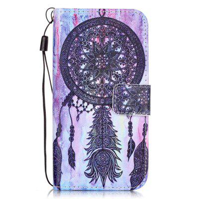 Black Wind Chimes Pattern PU Leather Flip Wallet Case for iPhone 7 / 8