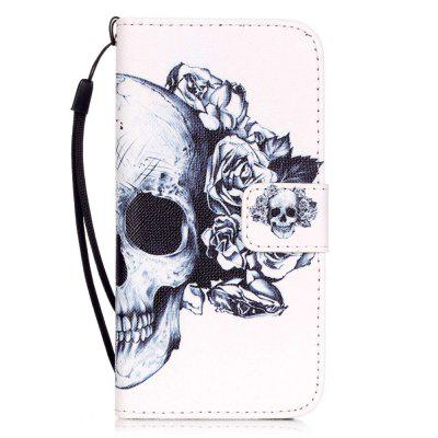 Skeleton Pattern PU Leather Flip Wallet Case for iPhone 7 / 8