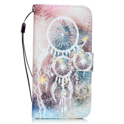 White Bells Pattern PU Leather Flip Wallet Case for iPhone 7 / 8