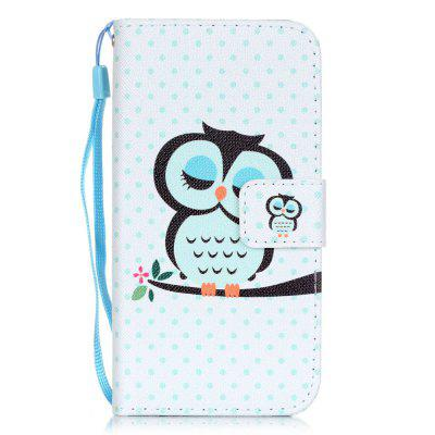 Owl Pattern PU Leather Flip Wallet Case for iPhone 7 / 8