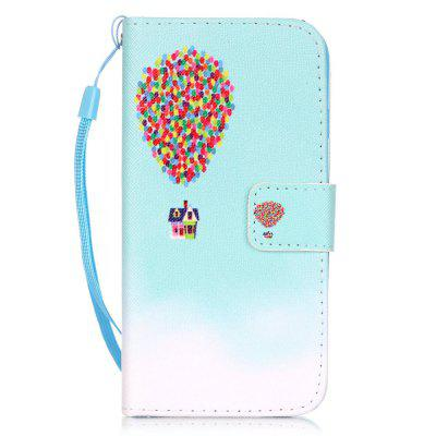 Balloon House Pattern PU Leather Flip Wallet Case for iPhone 7 / 8