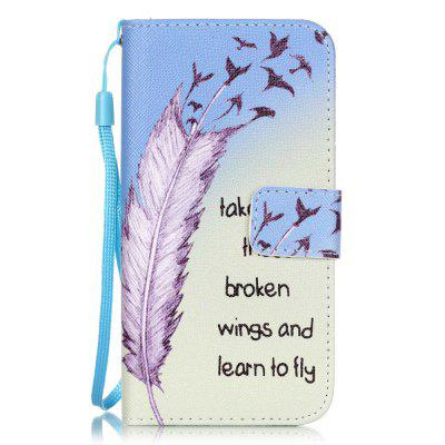 Feather Pattern PU Leather Flip Wallet Case for iPhone 7 / 8