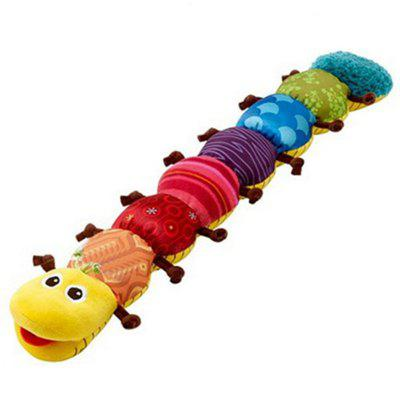 Cute Cartoon Caterpillar Plush Doll with Ring Bell Early Learning Educational Kids Toy