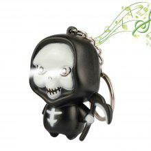 Brelong Music-making Skull Man Cartoon Keychain with LED Light Pendant 1PC