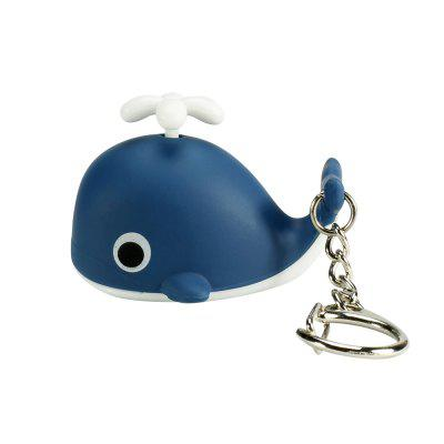 Brelong Music-making Lovely Whale Cartoon Keychain with LED Light Pendant
