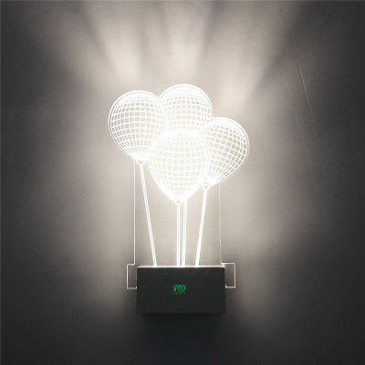 YWXLight 8W LED 3D Wall Lamp Creative Ambient Light Home Lighting AC 110 - 240V