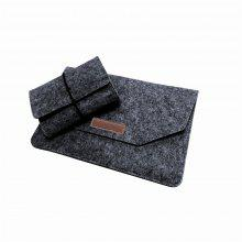 15.4 Inch Felt Laptop Sleeve with Mouse / Charge Pouch for 15 inch Apple Macbook Pro A1707