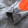 Kimocat Boy's Vertical Stripes Tie Shirt Suit in Spring and Autumn - GRAY AND RED