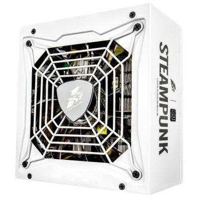 1STPLAYER Steampunk 650W 80 Plus Silver Certified Full Modular Active PFC High Performance ATX Power Supply-Dual CPU RGB LED Effect