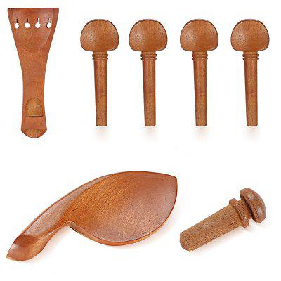 Brand New 4/4 Full Size Jujube Holz Violine Teile Set Geschnitzte Engel Muster 7 Pcs