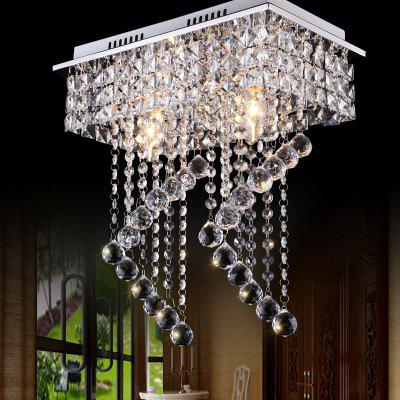 JUEJA Modern Crystal Chandeliers Lighting LED Home Ceiling Lamp for Living Room / Dining / Bedroom / Hallway / Balcony