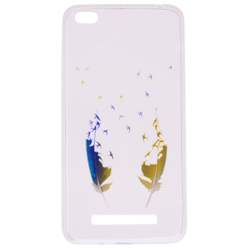 Feather Pineapple Pattern Soft TPU Clear Case for Xiaomi Redmi 4A