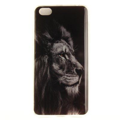 BLACK LION Soft Clear IMD TPU Phone Casing Mobile Smartphone Cover Shell Case for Xiaomi Redmi Note 5A
