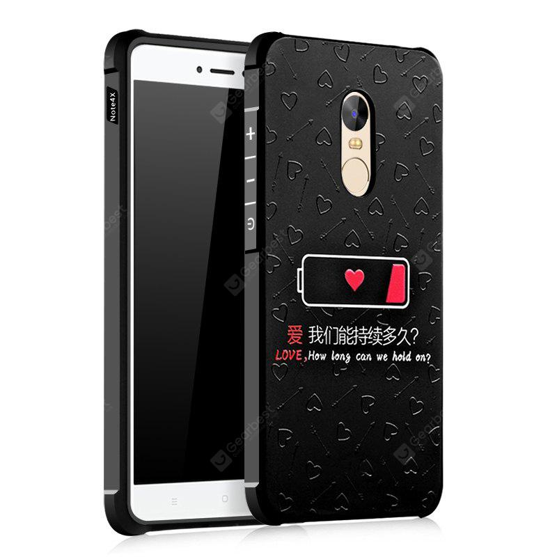 Love Design Ultra Slim Custodia rigida in silicone nero antiurto in TPU per Xiaomi Redmi Note 4X