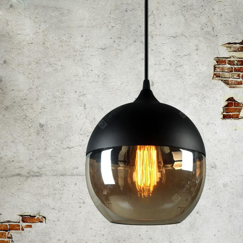 Injuicy Lighting Loft Vintage Industrial Amber Glass Pendant Lamp Fixtures Antique Retro E27 Edison Candy Jar Ceiling Pendant Lights Shade for Living Dining Room Bar Restaurant Decoration AMBER