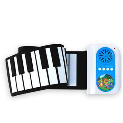 Iword 37 Key Portable Hand Roll Piano Built-in Speaker Instrument Toy for Kids
