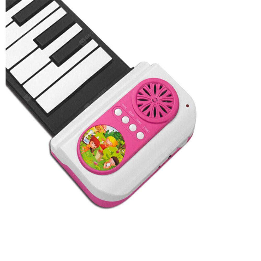 Iword 37 Key Portable Hand Roll Piano Built-in Speaker Instrument Toy para crianças