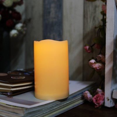Outdoor Flameless Candle with Timer Plastic Realistic Flickering Battery Operated