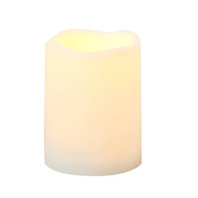 Outdoor Flameless Candle with Timer Plastic Realistic Flickering