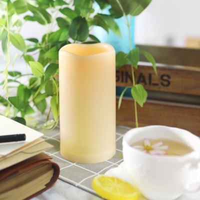 Outdoor Flameless Candle with Timer Plastic Realistic Flickering Bright LED Pillar Long Battery Life