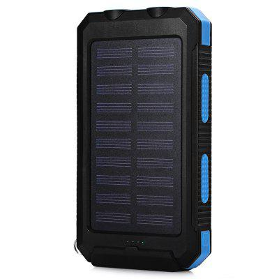 Buy Solar Charger Power Bank 10000mAh External Backup Battery Pack Dual USB Solar Panel Charger with 2LED Light LAPIS for $12.96 in GearBest store