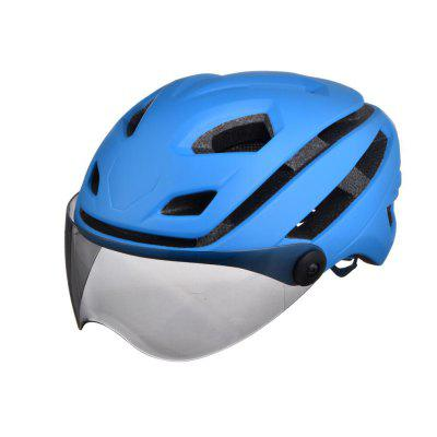 L-002 Bicycle Helmet Bike Cycling Adult Adjustable Unisex Safety with Visor Len